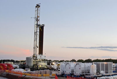 Gas-driven hydraulic fracturing and drilling cut costs