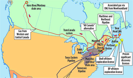 gas paths to eastern canada